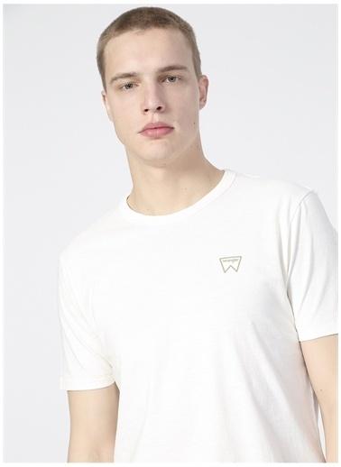 Wrangler Wrangler W7AXGYXME_Logo T-shirt  Beyaz